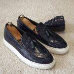 Navy Blue Tassel Loafers
