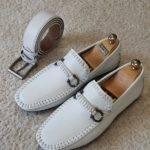White Slip On Bit Loafers