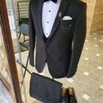 Black Slim Fit Notch Lapel Tuxedo