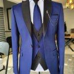 Sax Slim Fit Peak Lapel Wedding Suit