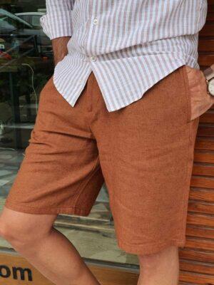 Slim Fit Linen Shorts