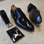 Black Patent Leather Derby