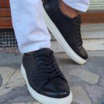 Black Low-Top Sneakers