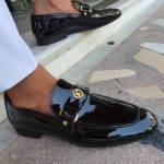 Black Patent Leather Penny Loafers