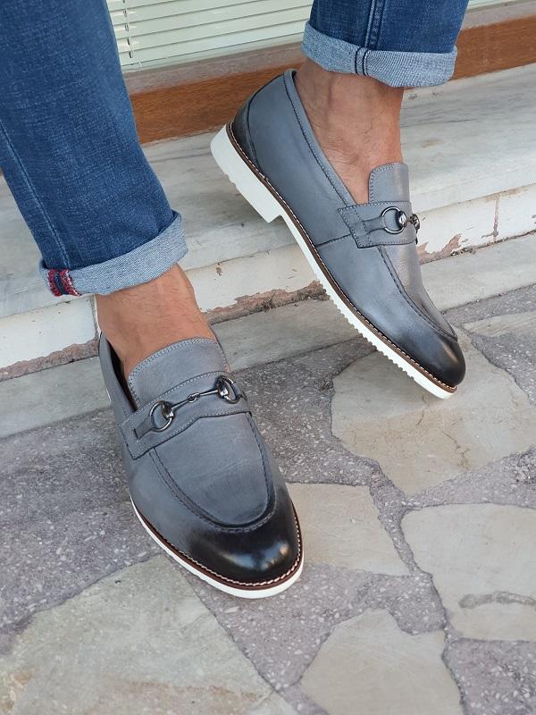 Aysoti Durham Gray Bit Loafers