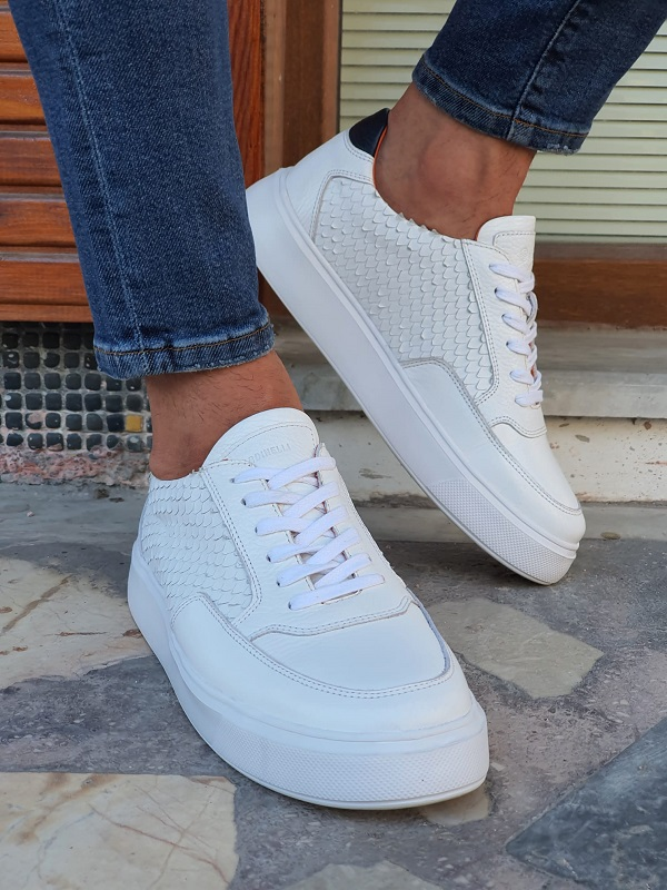 White High-Top Sneakers