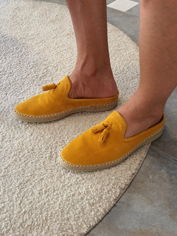 Yellow Suede Mules