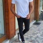 White Slim Fit Crew Neck T-Shirt