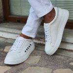 White Low-Top Sneakers
