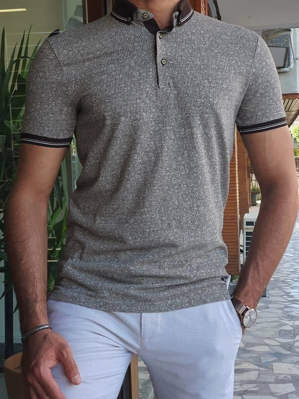 Brown Slim Fit Polo T-Shirt