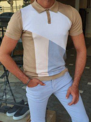 Camel Slim Fit Polo T-Shirt