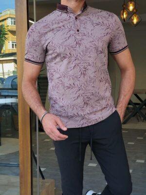 Plum Slim Fit Polo T-Shirt