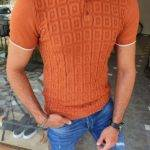 Tile Brown Slim Fit Polo T-Shirt
