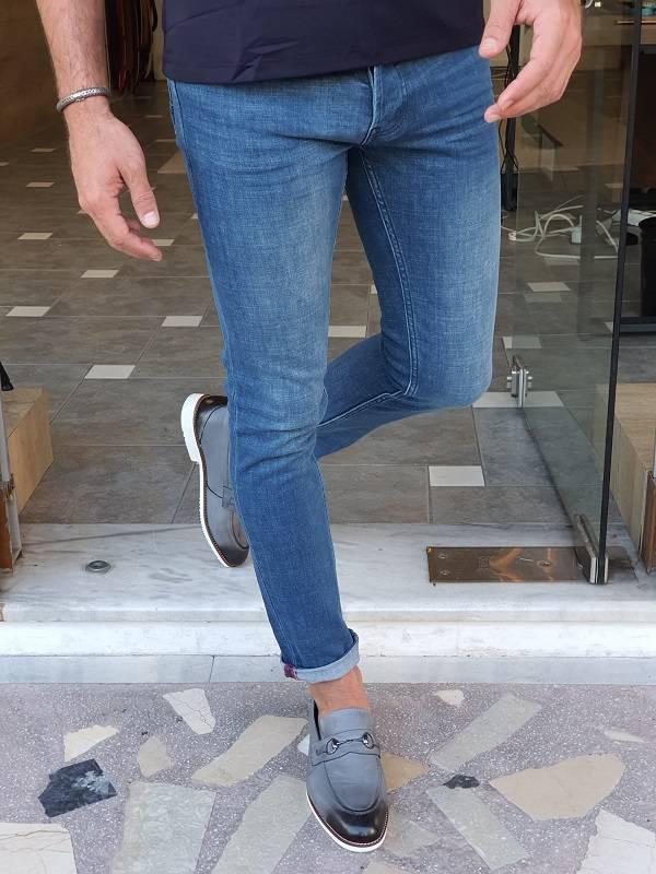 Blue Slim Fit Lycra Jeans