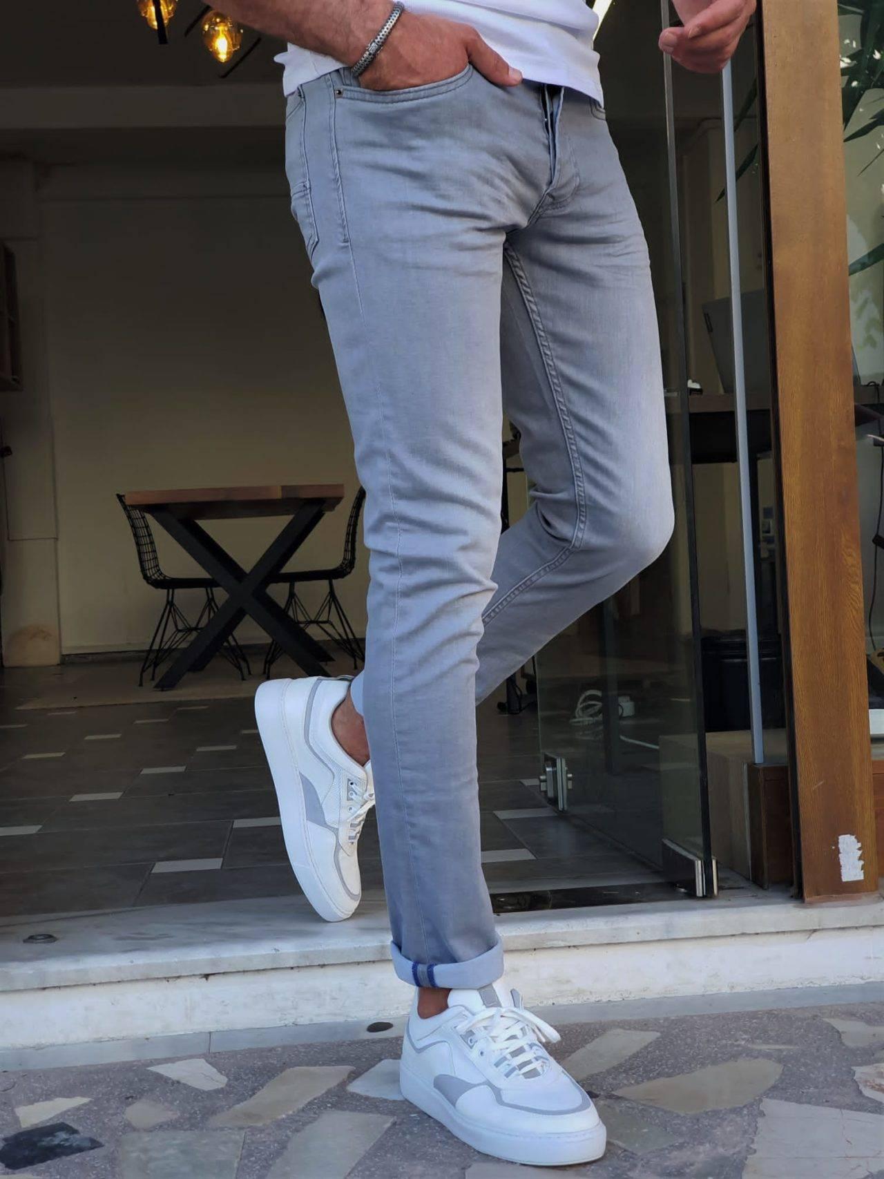 Gray Slim Fit Jeans