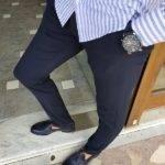 Navy Blue Slim Fit Pants