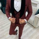 Slim Fit Velvet Shawl Lapel Tuxedo