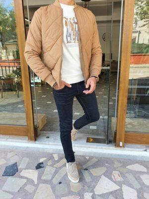 Brown Slim Fit Jacket