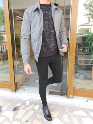 Gray Slim Fit Jacket