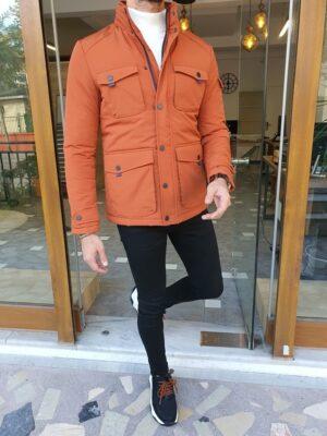 Orange Slim Fit Special Jacket