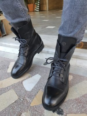 Aysoti Sohillsfort Black Cap Toe Boots