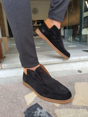 Aysoti Sohillsfort Black Suede Loafers