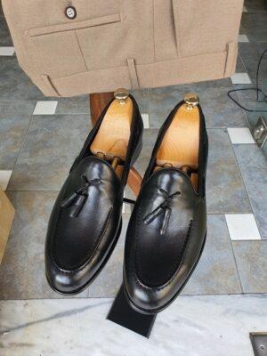 Aysoti Sohillsfort Black Tassel Loafers