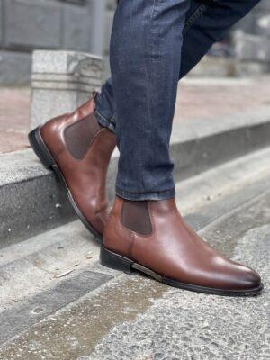 Aysoti Sohillsfort Brown Chelsea Boots