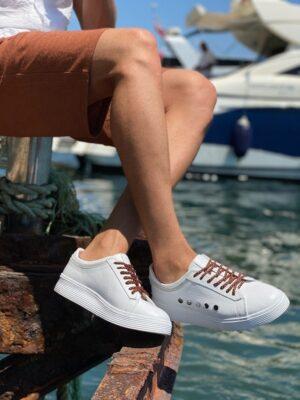 Aysoti Sohillsfort White Mid-Top Sneakers