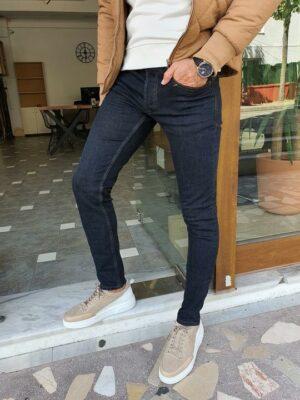 Pelion Navy Blue Slim Fit Jeans